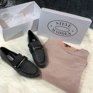 Steve Maddn studded loafers